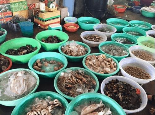 Hải sản tươi ngon ở Mũi Né