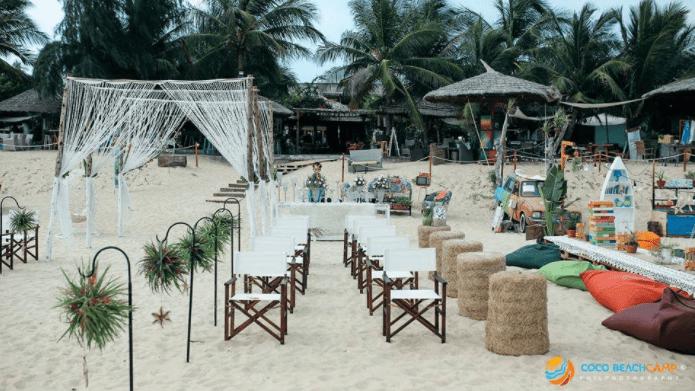Trang trí đám cưới ở Coco Beach Camp