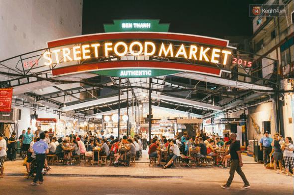 Chợ ẩm thực đêm ở Sài Gòn