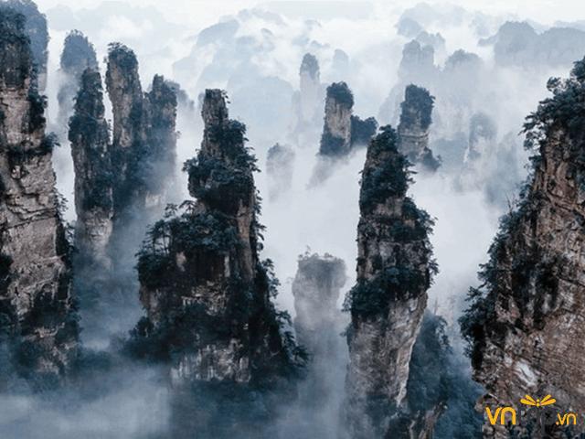 """Khung cảnh hùng vĩ của Trương Gia Giới được xuất hiện trong bộ phim 'Avatar"""" nổi tiếng"""