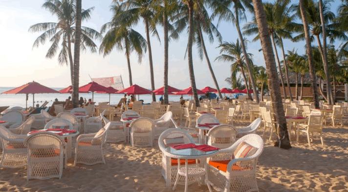 bai bien rieng tai khu resort Richis Beach