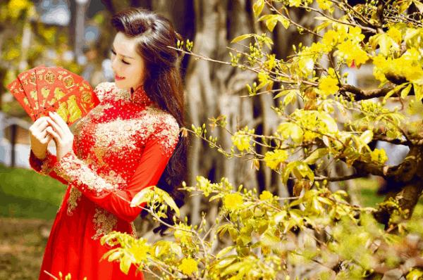 Bộ ảnh tết đẹp tại làng hoa Sa Đéc
