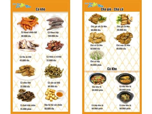 Các món ăn ngon tại quán Cô Nên