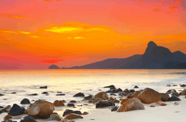 Cảnh hoàng hồn đẹp nên thơ tại Côn Đảo