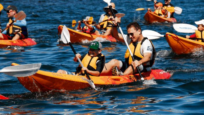 Chèo thuyền Kayak khám phá bãi Cửa Cạn