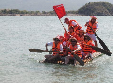 Du khách có thể vui chơi thỏa thích tại đảo Gò Găng