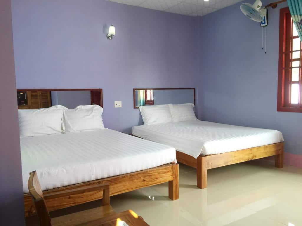 Hình ảnh phòng nghỉ 2 giường tại Hà Phát - Phú Quốc (Ảnh ST)
