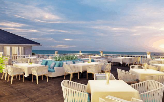 Không gian nhà hàng Hương Biển