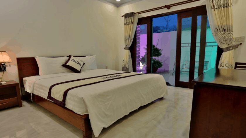 Không gian phòng nghỉ khách sạn Halona Phú Quốc