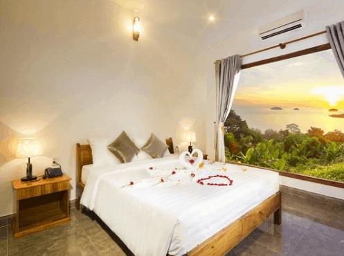 Không gian phòng nghỉ tuyệt đẹp tại Hồng Bin Bungalow