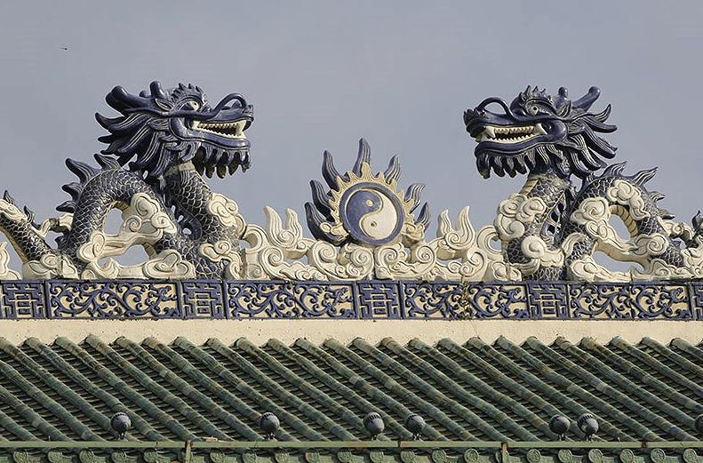 Kiến trúc mái vòm độc đáo và đẹp mắt tại văn miếu Trấn Biên