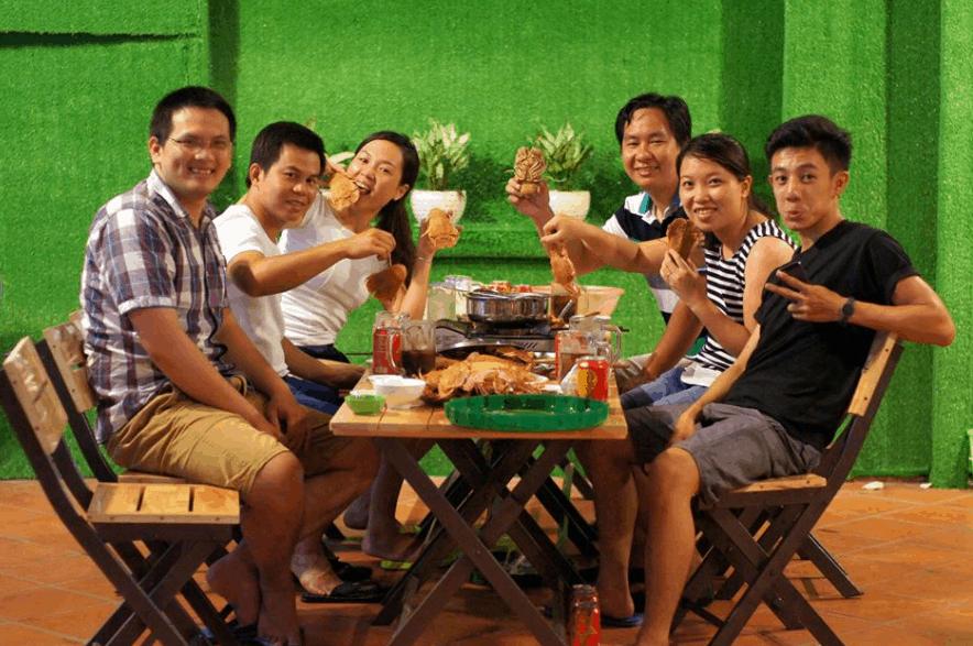 Lập team ăn uống thả ga tại nhà hàng Búp Restaurant