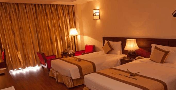 Phòng nghỉ 2 giường cao cấp tại Tài Phong Tiến Hotel