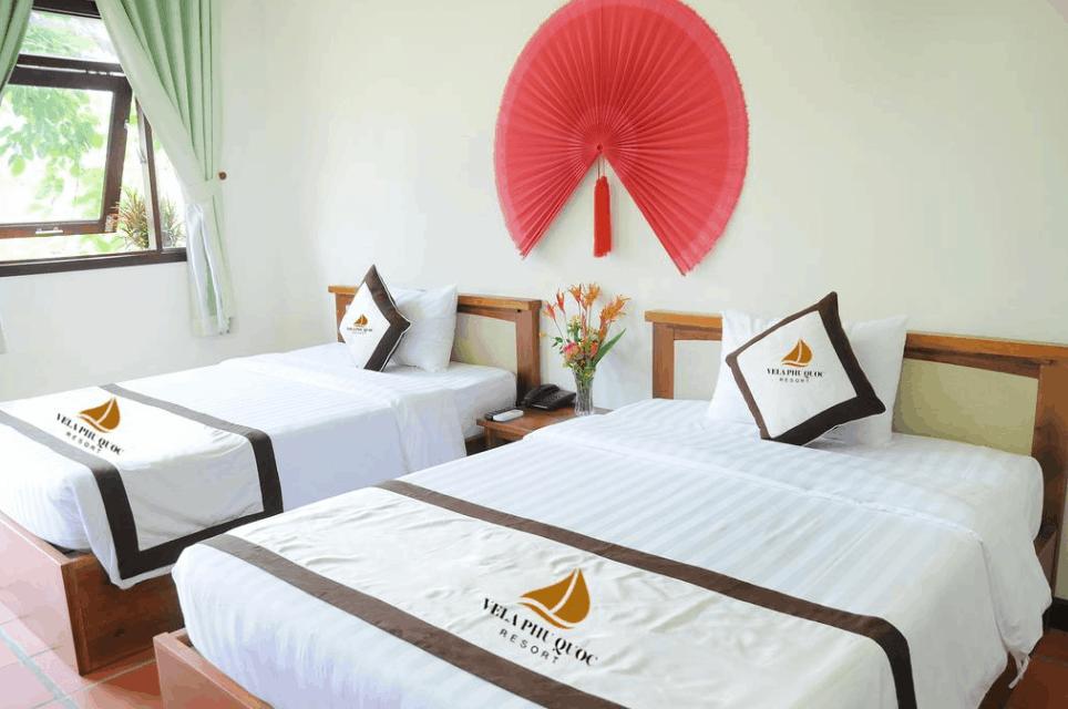 Phòng nghỉ 2 giường tại Vela Phu Quoc
