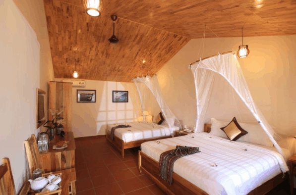 Các phòng nghỉ La Casa có lối kiến trúc sang trọng