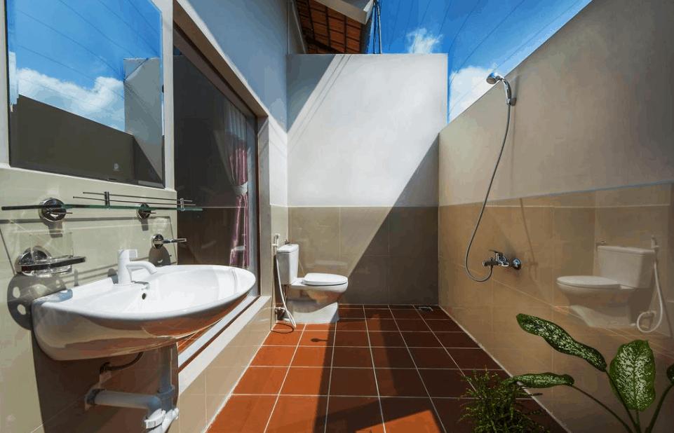 Phòng tắm ngoài trời độc đáo