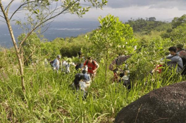 Rất nhiều bạn trẻ tới chinh phục núi Chứa Chan
