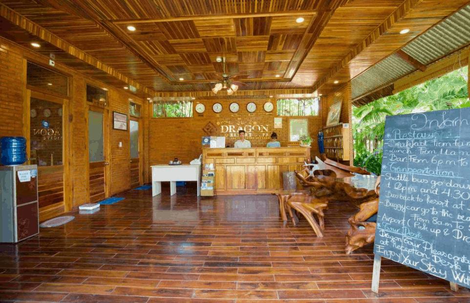 Sảnh đón khách tại Phú Quốc DRAGON Resort