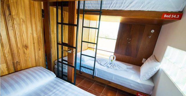 Phòng nghỉ ở Tabalo hostel (Ảnh ST)