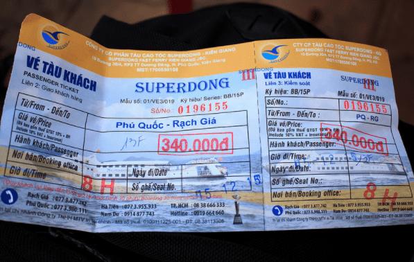 Hình ảnh vé tàu Superdong đi Phú Quốc
