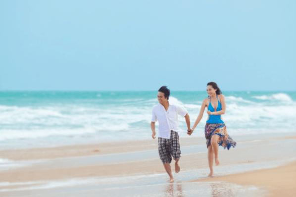 Vui chơi tại biển Hồ Tràm
