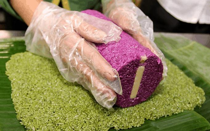 Cách gói bánh tét lá cẩm
