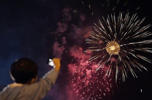 Hình ảnh bắn pháo hoa tại Cần Thơ 2017