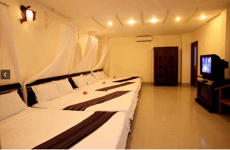 Thiết kế phòng ngủ ở khu du lịch Sóng Biển Xanh