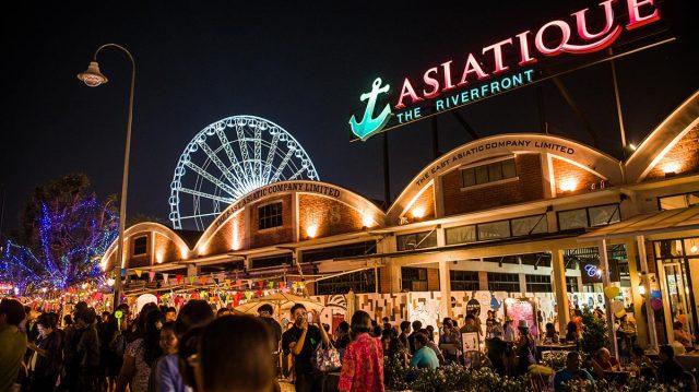 ASIATIQUE chợ đêm kết hợp trung tâm thương tại (Ảnh ST)