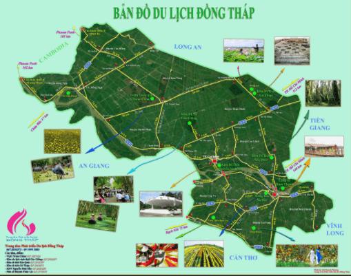 Bản đồ du lịch Đồng Tháp