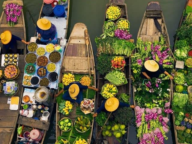 Chợ nổi truyền thống trên sông (ẢNH ST)
