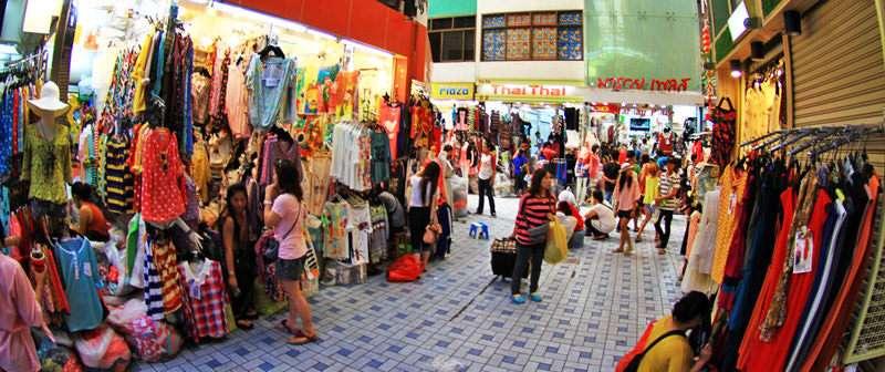 Khu chợ sầm uất ở Bangkok Thái Lan (Ảnh ST)