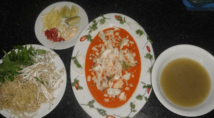 Đặc sản tiết canh cua Phú Quốc