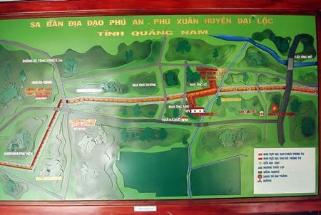 Sa bàn địa đạo Phú An-Phú Xuân huyện Đại Lộc (Ảnh ST)