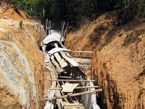 Năm 2009, dự án trùng tu lại địa đạo được phê duyệt và tiến hành với nguồn kinh phí hơn 2 tỷ đồng (Ảnh ST)