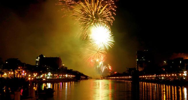 Điểm bắn pháo hoa tại Hải Phòng