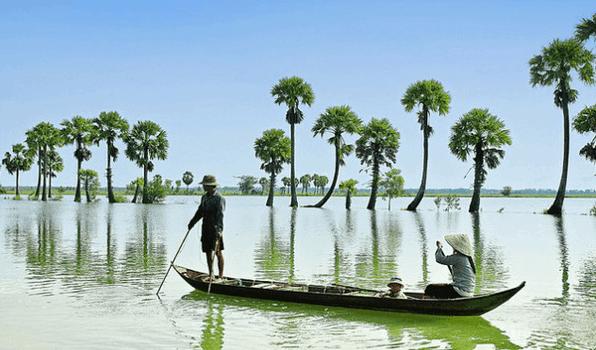 Khám phá Búng Bình Thiên mùa nước nổi