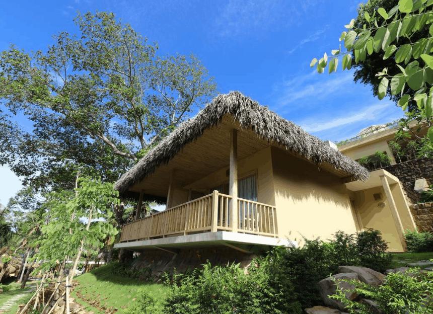 Không gian nhà nghỉ Lahana hòa hợp với thiên nhiên