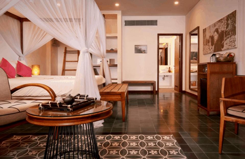 Không gian phòng nghỉ lãng mạng tại Cassia Cottage
