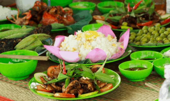 Món ăn dân dã tại vùng sông nước Đồng Tháp
