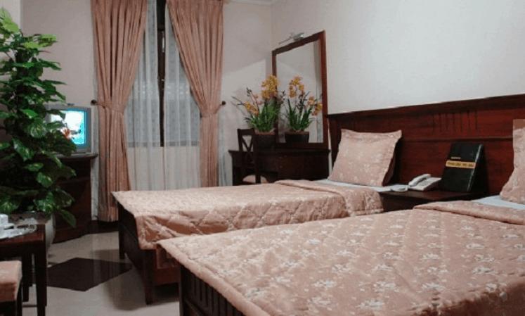 Phòng nghỉ 2 giường tại khách sạn Thăng Long