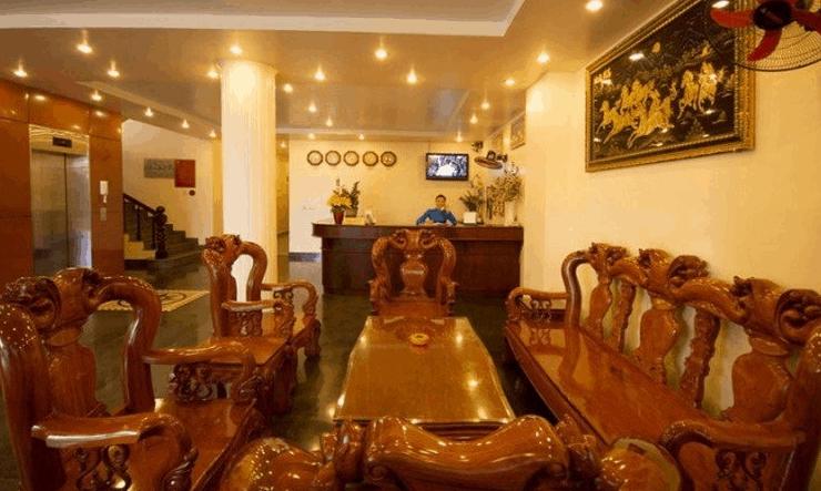 Hình ảnh quầy đón khách tại khách sạn Biển Xanh