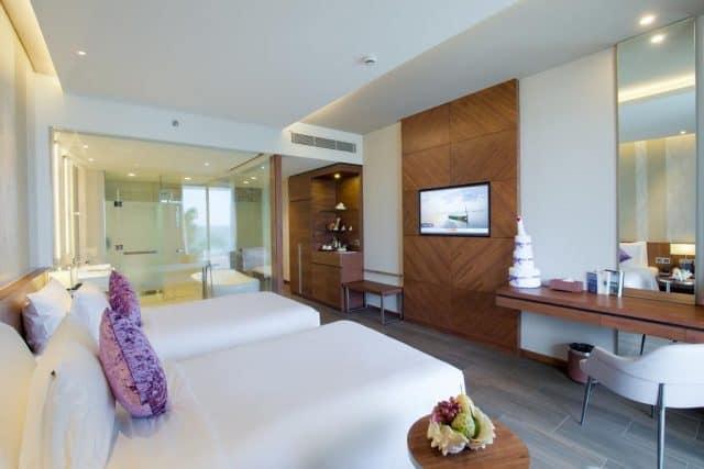 Khu phòng nghỉ hiện đại tại khách sạn Seashells Phu Quoc (Ảnh ST)