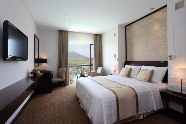 Phòng nghỉ đơn giản tinh tế với đầy đủ tiện nghi (Ảnh ST)