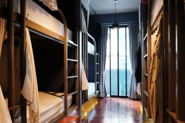 Phòng nghỉ trong Monomer hostel (Ảnh ST)