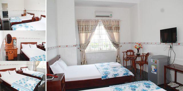 Phòng nghỉ đơn giản nhưng đầy đủ tiện nghi (Ảnh ST)