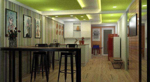 Khu sảnh sinh hoạt chung của hostel (Ảnh ST)