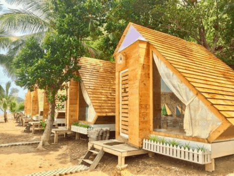 Những căn bungalow mái gỗ ở Humiso