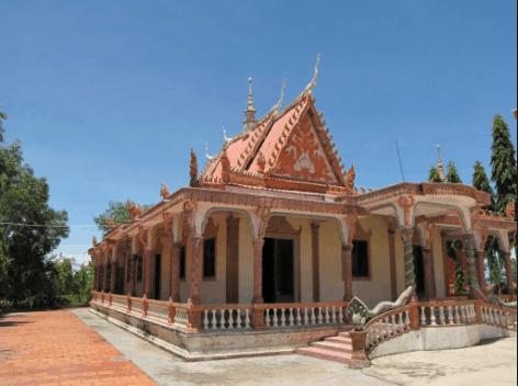 Ngôi chùa có phong cách kiến trúc độc đáo và đặc trưng của người dân tộc Khmer Nam Bộ