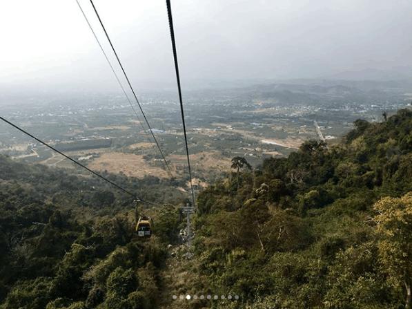 Đường cáp treo lên núi Tà Cú